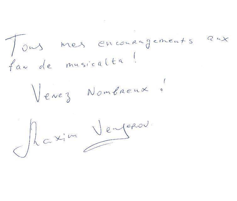 Mot Fan Musicalta Vengerov