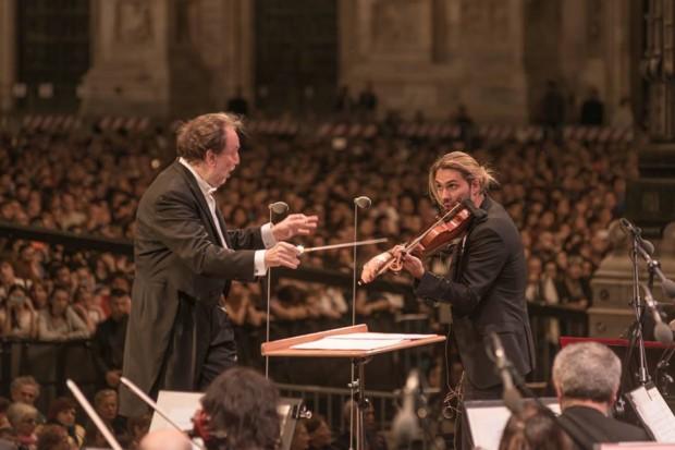 Riccardo Chailly et David Garrett devant 40 000 personnes à Milan